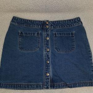 🍀Snap front denium skirt